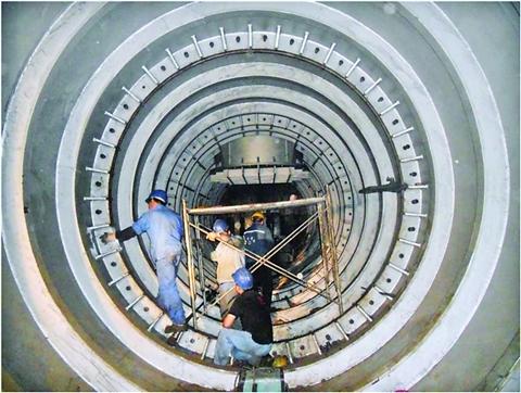 中国首座深水电力引水隧道常熟贯通
