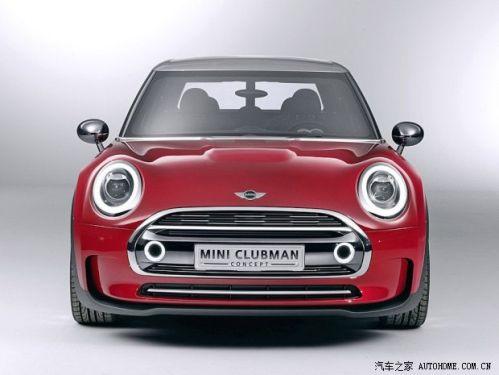 概念车采用了mini家族全新的设计风格,前脸椭圆形大灯造型非常可爱