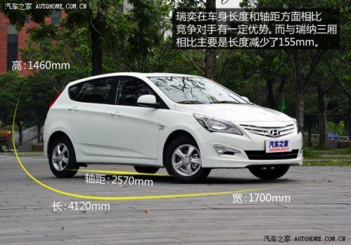 现代北京现代瑞奕2014款 1.4l 自动glx