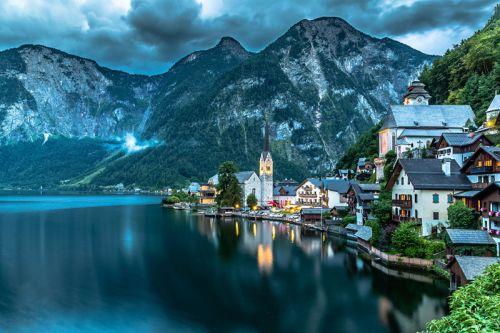 世外桃源!世界最美小镇—奥地利hallstatt村庄