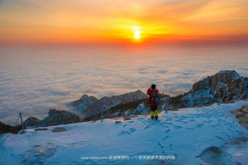 登顶雪后泰山 云海楼阁做回玉皇大帝_国内游_旅游