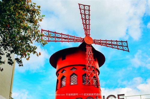 国外风车创意海报