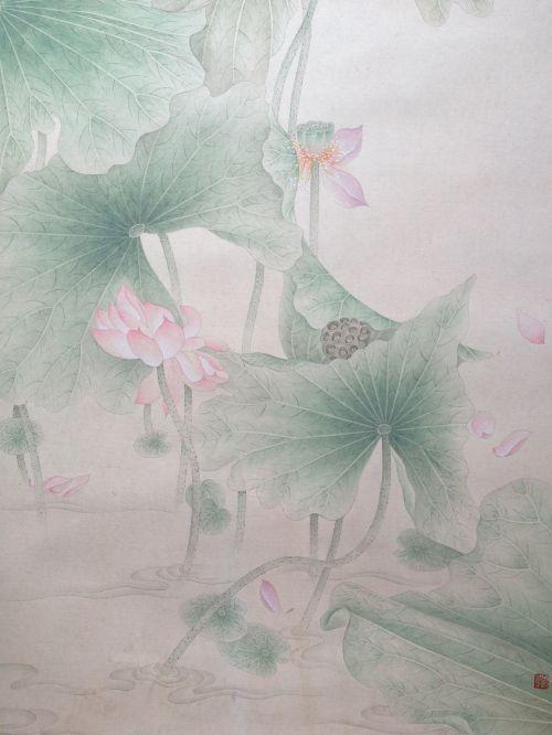 《步步生莲》纸本局部2 33X66cm