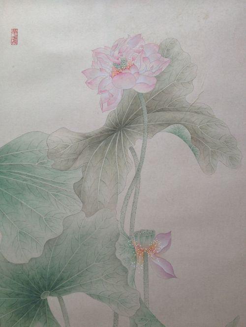 《步步生莲》纸本局部3  33X66cm