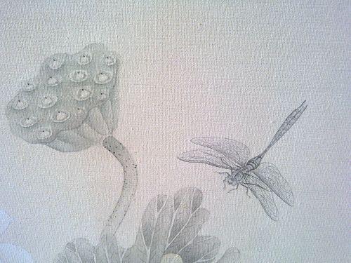 《清池精灵》布面丙烯绘制 60X120cm 2012年