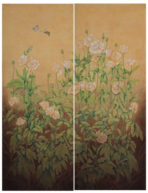 全国十届美展《花语》200X300cm  2004年