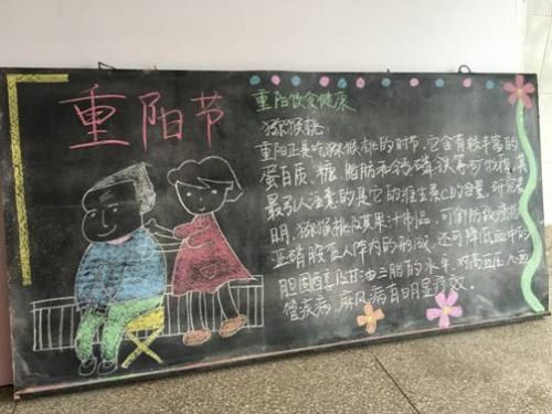 小小志愿者 爱出黑板报图片