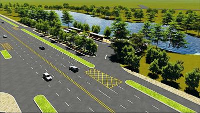 沙家浜路公交换乘站效果图。