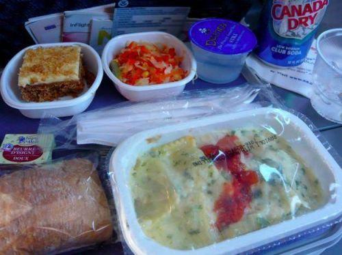 7,达美航空 经济舱:飞机餐的米饭就已经够要命的了,右边那坨真的不是