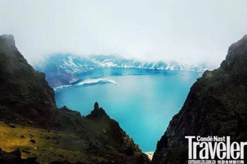 朝鲜高山溪流风景油画