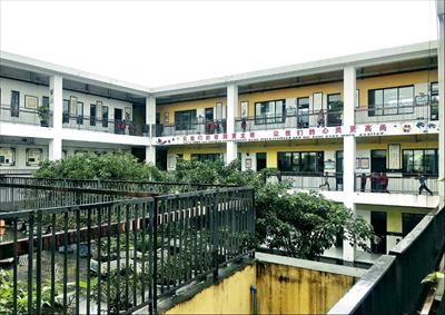 图:土门学校一角。