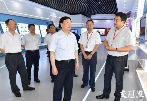 娄勤俭书记在中国电子科技集团第五十五研究所调研。