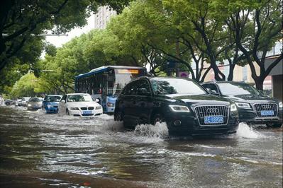 大图:虞城道路大面积积水。
