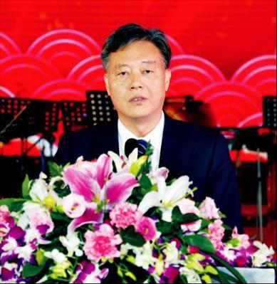 图:市委书记周勤第在新春团拜会上致辞。本报记者 高岳摄