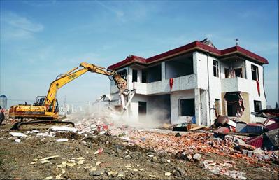 拆除房屋现场。本报记者 朱琪摄