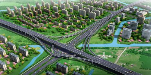 新世纪大道北延和三环路节点效果图