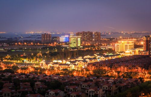 滨江新城夜色